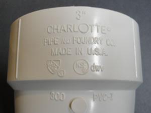 "Charlotte 3"" PVC Vent Termination Hub"