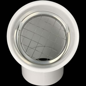 """PVS-RS3 Installed In a 3"""" PVC Pipe Hub"""
